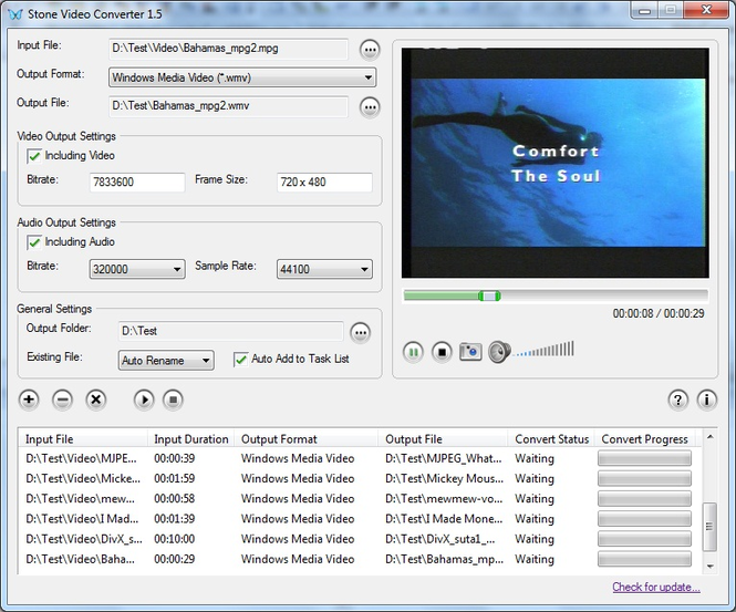 Stone FLV Converter Screenshot 1