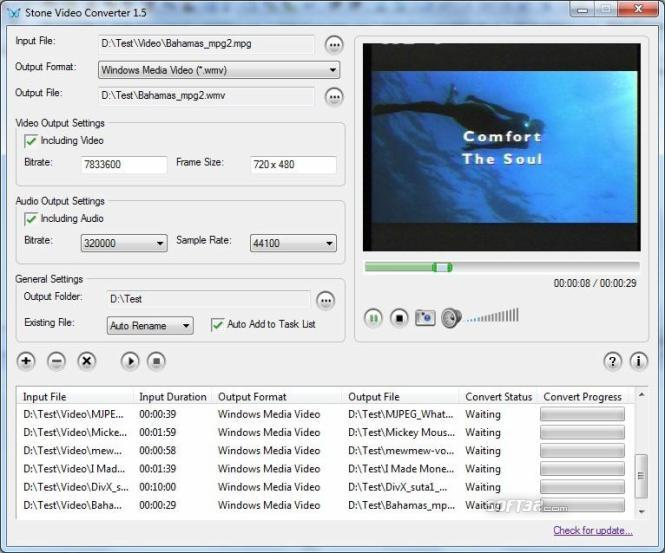 Stone WMV Converter Screenshot 2