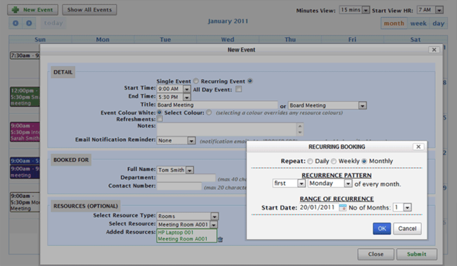myScheduling Software Screenshot