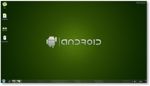 Windows 7 Android Theme Screenshot 2
