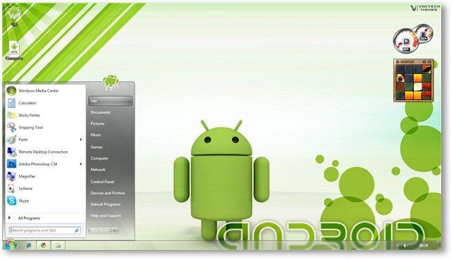 Windows 7 Android Theme Screenshot 6