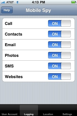 iPhone Spy Screenshot