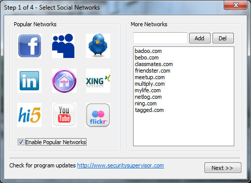 Internet Security Controller Screenshot