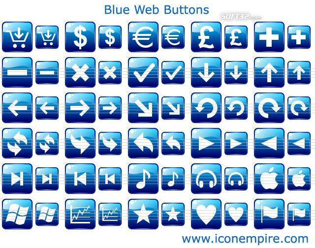 Blue Web Buttons Screenshot 3
