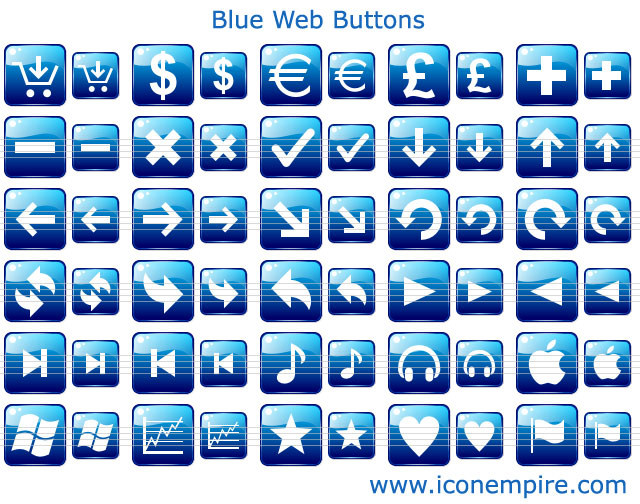 Blue Web Buttons Screenshot 1