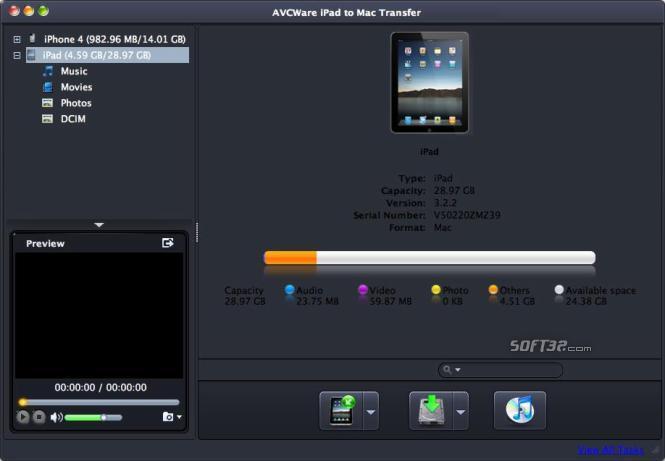 AVCWare iPad to Mac Transfer Screenshot 3