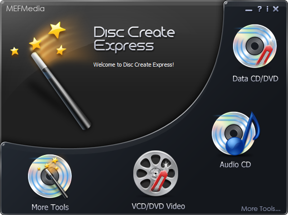 Disc Create Express Screenshot