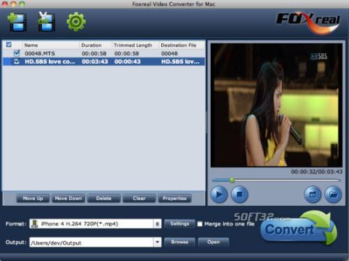 Foxreal Video Converter for Mac Screenshot 3