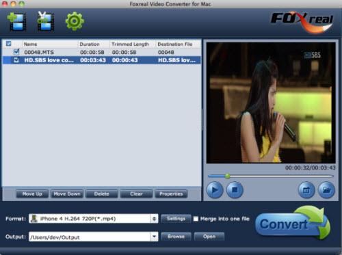 Foxreal Video Converter for Mac Screenshot 1