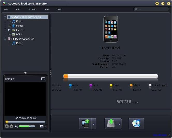 AVCWare iPod to PC Transfer Screenshot 3