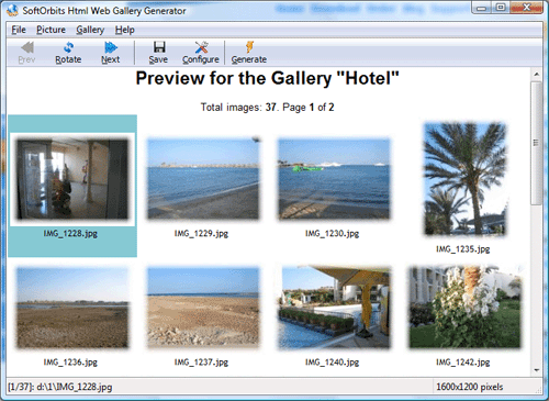 Image to HTML Converter Screenshot