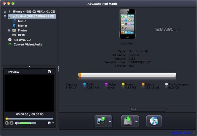 AVCWare iPod Magic for Mac Screenshot 2