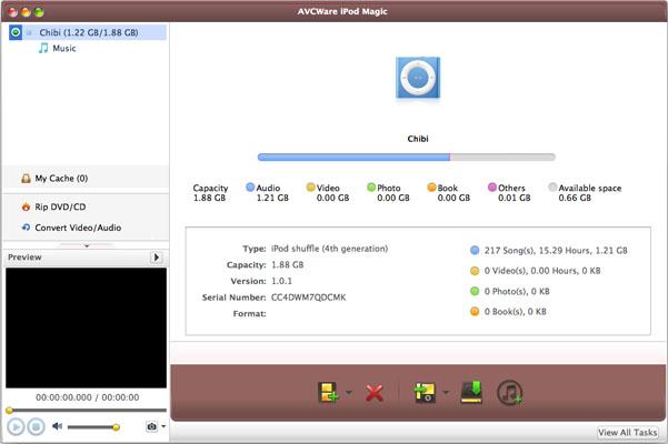 AVCWare iPod Magic for Mac Screenshot 1