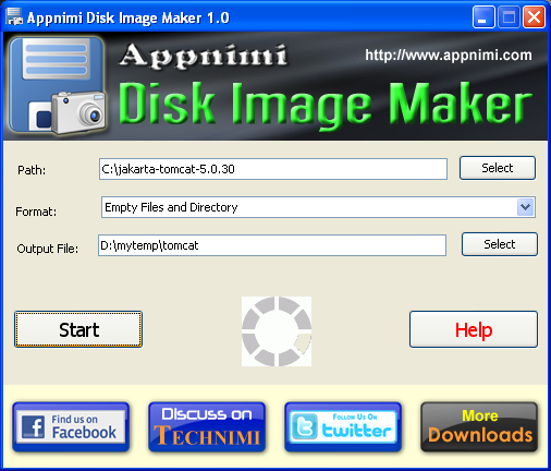 Appnimi Disk Image Maker Screenshot