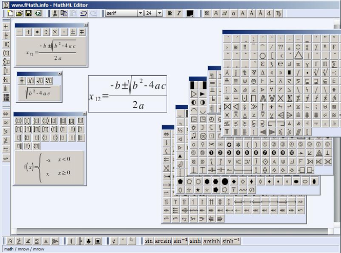fMath Web Editor Screenshot 2