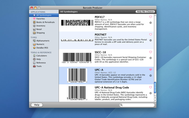Barcode Producer Screenshot