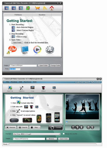 Camersoft AIM Video Recorder Screenshot 1
