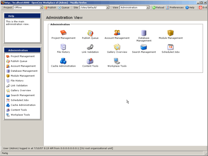 OpenCms Screenshot