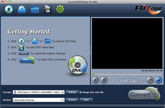 Foxreal DVD Ripper for Mac Screenshot 2