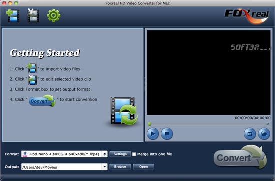 Foxreal HD Video Converter for Mac Screenshot 2