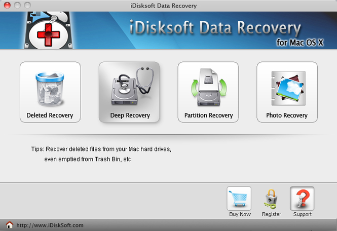 iDisksoft Data Recovery for Mac Screenshot 1