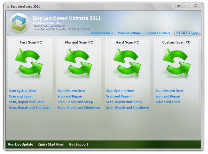 Easy LeexSpeed 2011 Screenshot 2