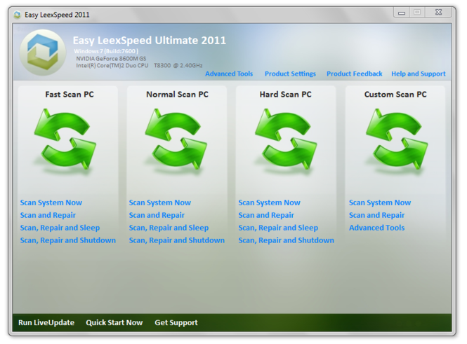 Easy LeexSpeed 2011 Screenshot 1
