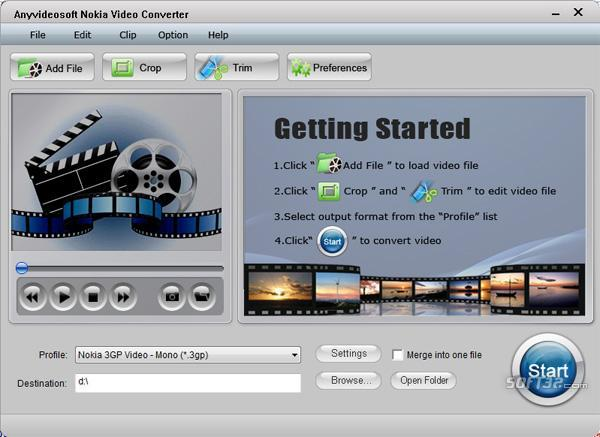 Anyvideosoft Nokia Video Converter Screenshot 2