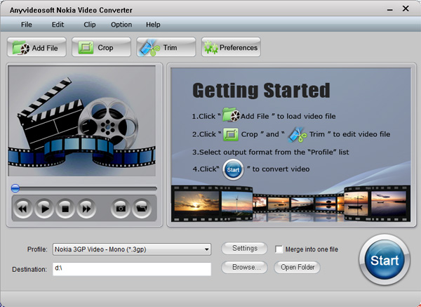 Anyvideosoft Nokia Video Converter Screenshot