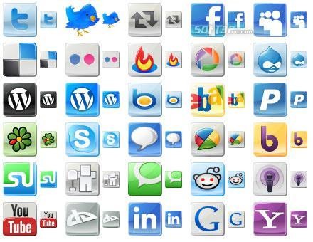 Free Social Media Icons Screenshot 2