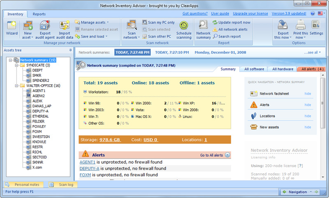 Network Inventory Software Screenshot 1
