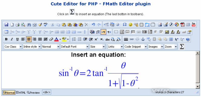fMath Editor - Cute Editor Plugin Screenshot 2