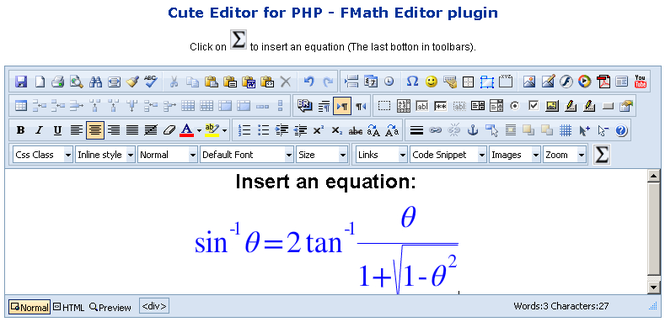 fMath Editor - Cute Editor Plugin Screenshot 1