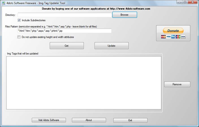 4dots Software Img Tag Updater Tool Screenshot