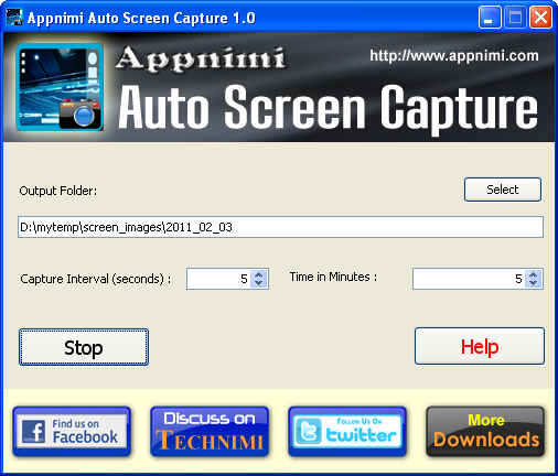 Appnimi Auto Screen Capture Screenshot