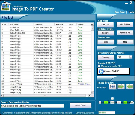 Image To PDF Creator Screenshot