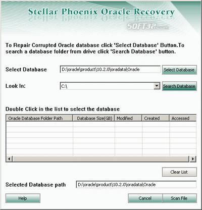 Stellar Phoenix Oracle Database Recovery Screenshot 3