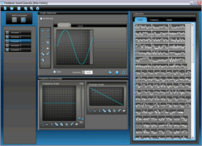 FlexiMusic Sound Generator Screenshot