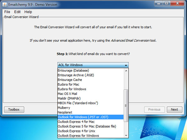Emailchemy for Windows 64 Screenshot