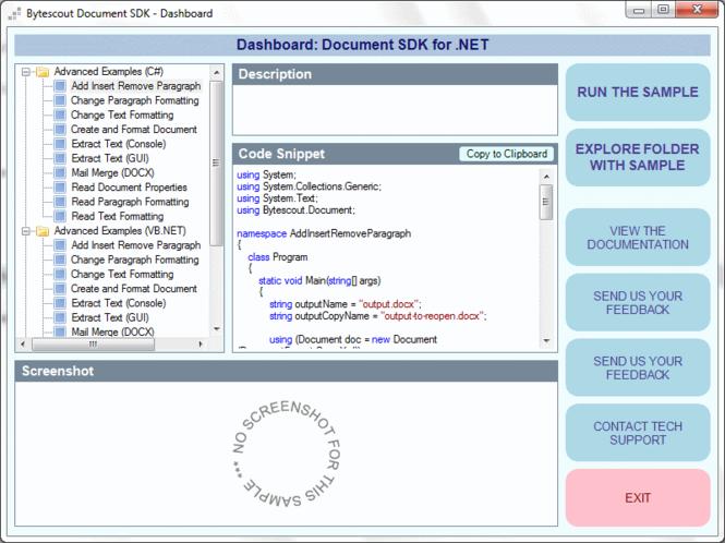 Bytescout Document SDK for .NET Screenshot