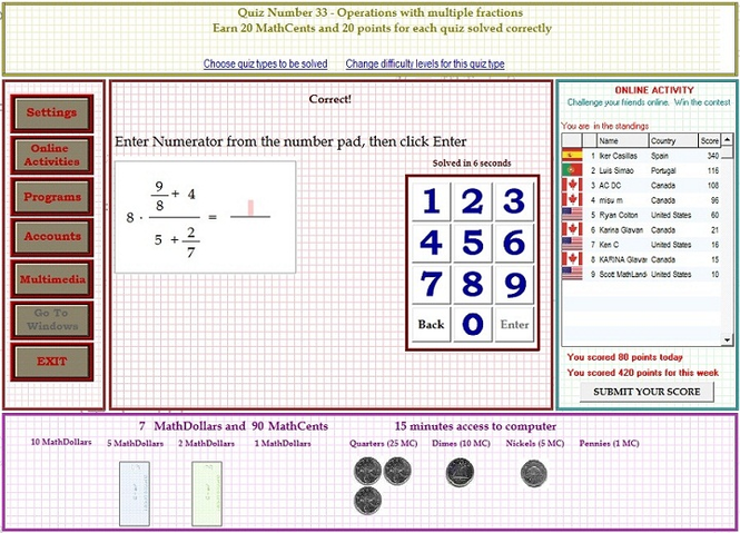 MathLanders A+ Screenshot