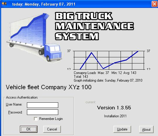 (BTMS) Big Truck Maintenance System Screenshot 1