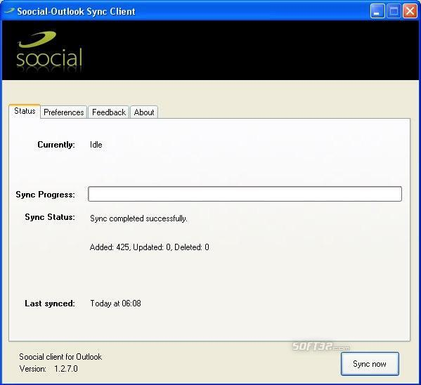 Soocial Outlook Sync Screenshot 2