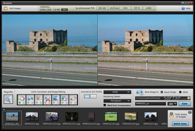 SoftColor PhotoEQ Screenshot 2