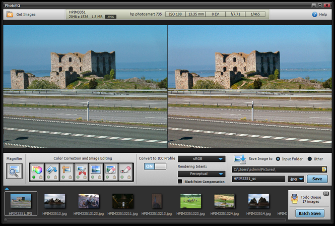 SoftColor PhotoEQ Screenshot