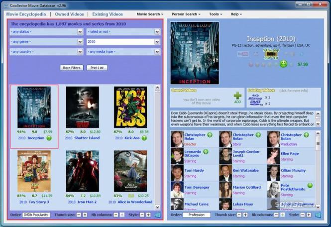 Portable Coollector Movie Database Screenshot 2