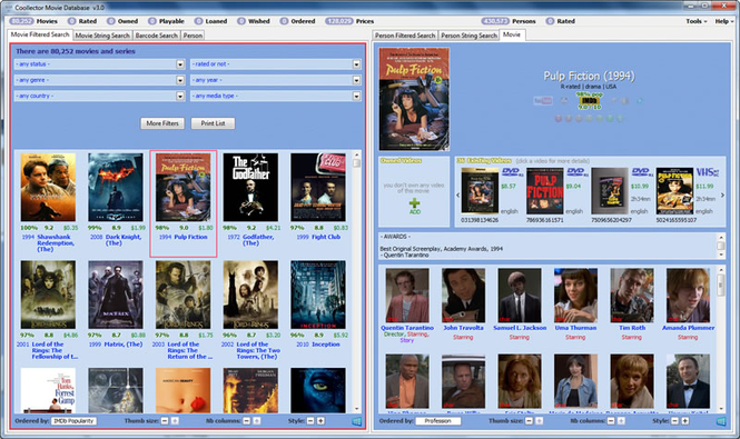 Portable Coollector Movie Database Screenshot