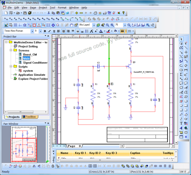 Circuit Design simulation Component Screenshot