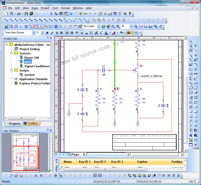 Circuit Design simulation Component Screenshot
