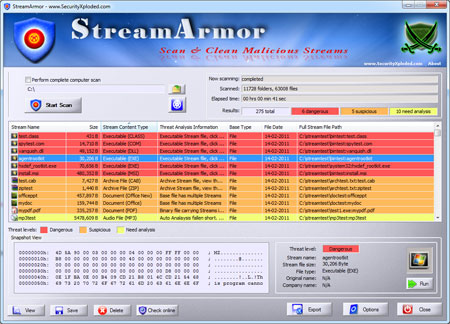 Stream Armor Screenshot 1